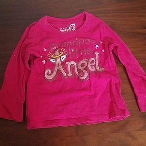 "Long sleeve shirt ""grandpas little angel"""